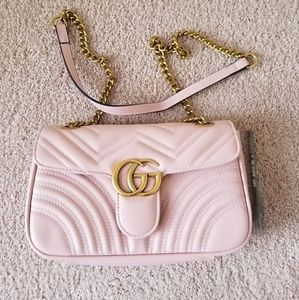 Authentic Gucci Pink Marmont Purse